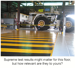 A resin floor in a mining facility like this one would require supreme test results to be selected with confidence.