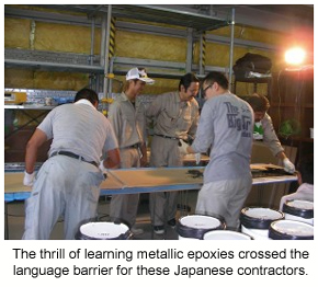 Industrial contractors learning to do metallic epoxies.