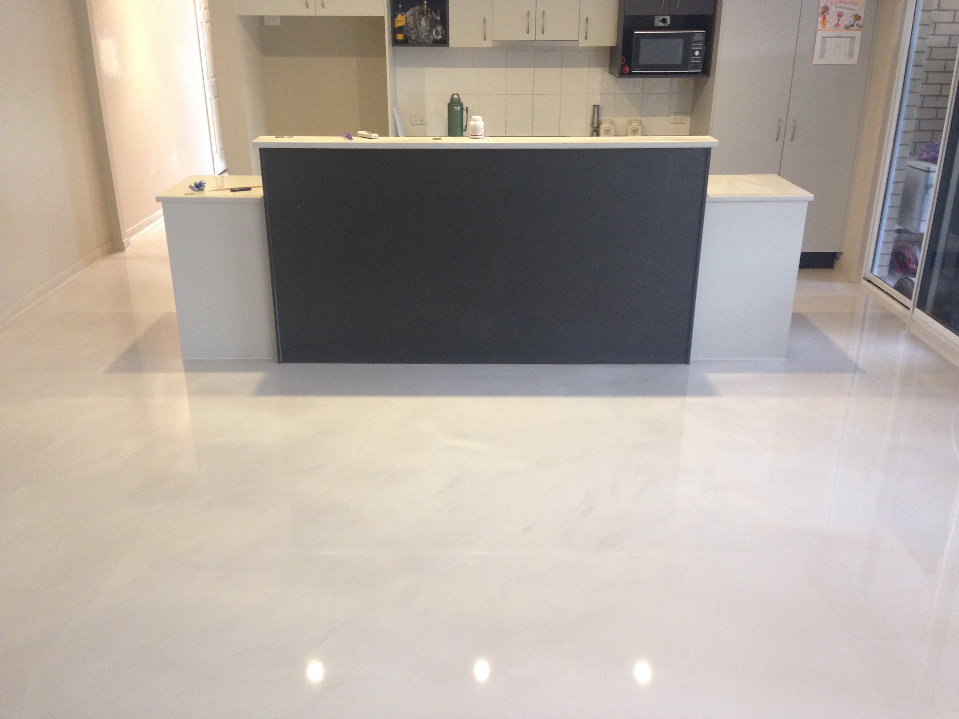 Wonderful Epoxy School   Epoxy Flooring Examples   Decorative Resin Flooring In  Residential Kitchens