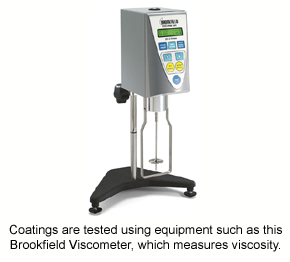 A Brookfield Viscometer is used in quality assurance for coatings.