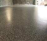 Flake floor in a large garage.